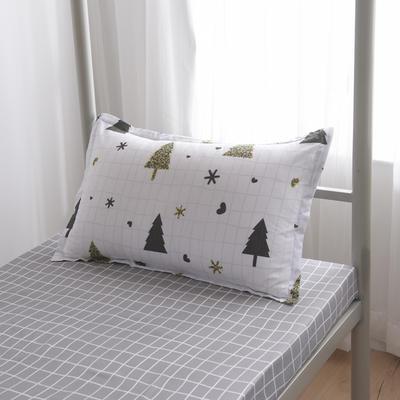 2019新款-芦荟棉高低床单枕套 46cmX72cm/一对 圣诞节