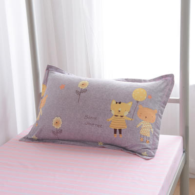 2019新款-芦荟棉高低床单枕套 46cmX72cm/一对 童趣