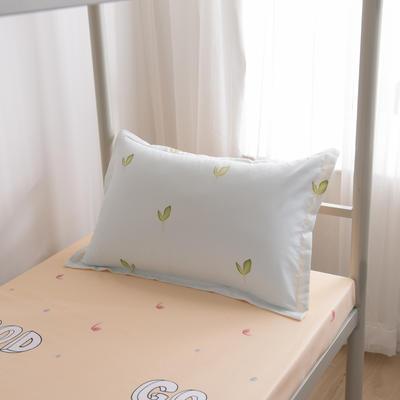 2019新款-芦荟棉高低床单枕套 46cmX72cm/一对 小清新