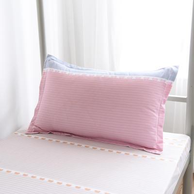 2019新款-芦荟棉高低床单枕套 46cmX72cm/一对 小鸭安吉