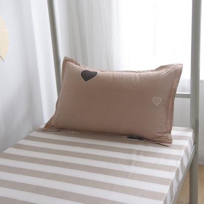 2019新款-芦荟棉高低床单枕套 46cmX72cm/一对 心动时刻