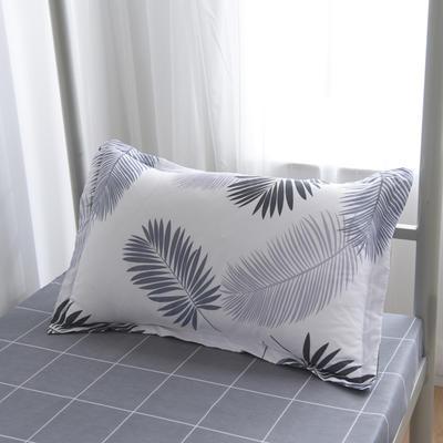 2019新款-芦荟棉高低床单枕套 46cmX72cm/一对 叶羽