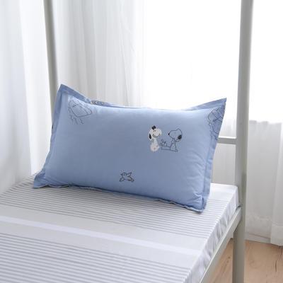2019新款-芦荟棉高低床单枕套 46cmX72cm/一对 自由