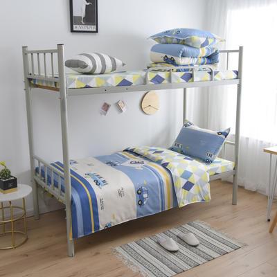 2021新款-芦荟棉三件套高低床 四件套1.5m床 巴士小兔