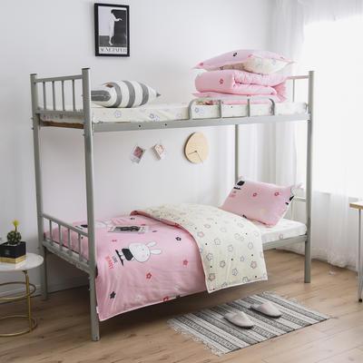 2021新款-芦荟棉三件套高低床 四件套1.5m床 邦尼兔