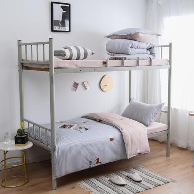 2021新款-芦荟棉三件套高低床 四件套1.5m床 北欢庄园