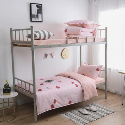 2021新款-芦荟棉三件套高低床 四件套1.5m床 草莓派