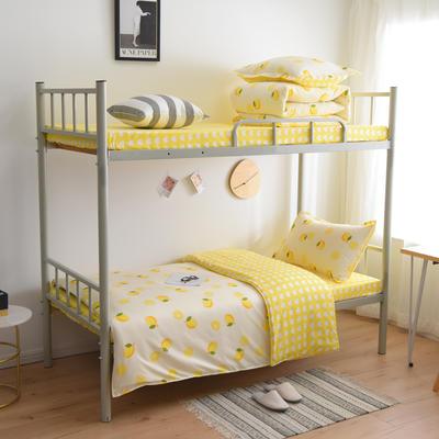 2021新款-芦荟棉三件套高低床 四件套1.5m床 果维多