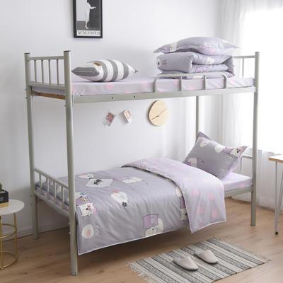 2021新款-芦荟棉三件套高低床 四件套1.5m床 好朋友