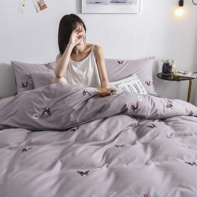 2019新款-90克仿棉四件套 床单款三件套1.2m(4英尺)床 爱宠