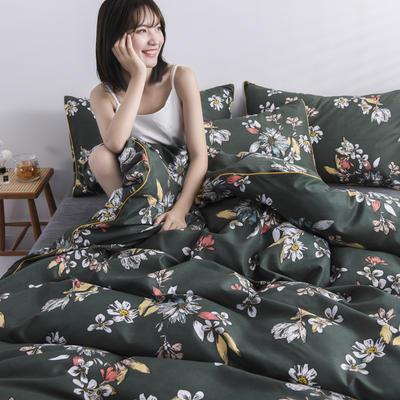 2019新款-90克仿棉四件套 床单款三件套1.2m(4英尺)床 花颂
