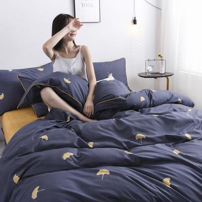 2019新款-90克仿棉四件套 床单款三件套1.2m(4英尺)床 漫时光-灰