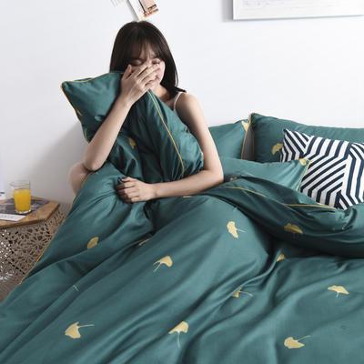 2019新款-90克仿棉四件套 床单款三件套1.2m(4英尺)床 漫时光-绿