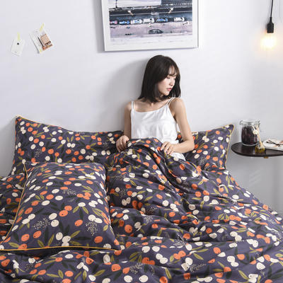 2019新款-90克仿棉四件套 床单款三件套1.2m(4英尺)床 硕果子