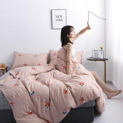2019新款-90克仿棉四件套 床单款三件套1.2m(4英尺)床 小精灵