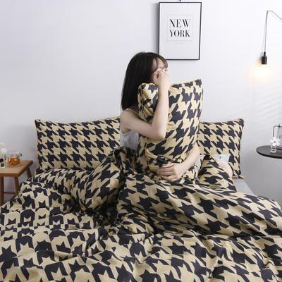 2019新款-90克仿棉四件套 床单款三件套1.2m(4英尺)床 忧尚-黄