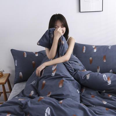 2019新款-90克仿棉四件套 床单款三件套1.2m(4英尺)床 羽柔