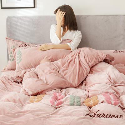 2019新款-宝宝绒四件套 床单款1.8m(6英尺)床 穗穗丰收 浅咖
