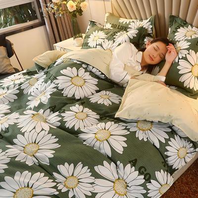 2020新款-130克植物羊绒四件套 1.2m床单款三件套 绿野仙踪