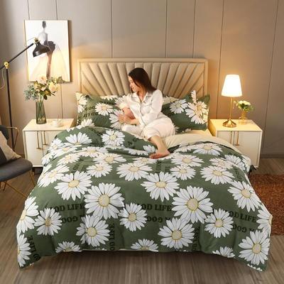 2021新款-植物羊绒四件套 1.5m床单款四件套 绿野仙踪