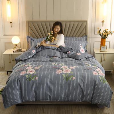 2021新款-植物羊绒四件套 1.5m床单款四件套 希香-紫
