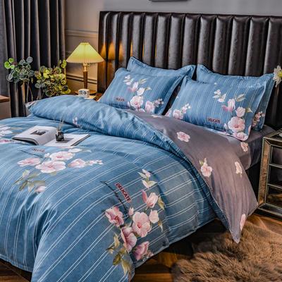 2020新款-植物羊绒四件套 1.5m床单款四件套 希香-蓝