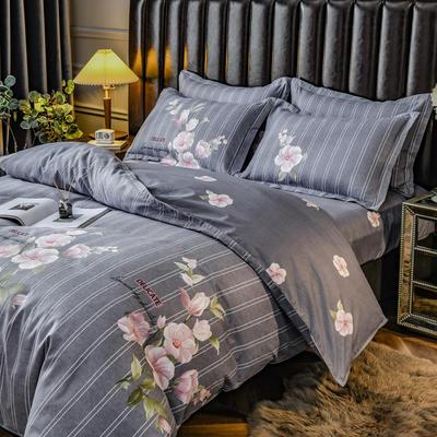 2020新款-植物羊绒四件套 1.5m床单款四件套 希香-紫