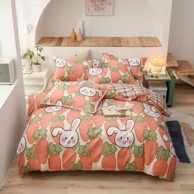 2021新款-芦荟棉四件套 1.5m床四件套 兔子乐园