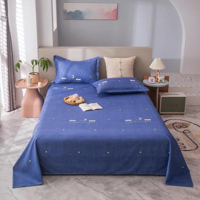 2021新款植物羊绒单床单 120*225cm 星空