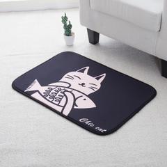 澳泽多功能门垫厨房垫飘窗垫 50*70cm 猫吃鱼