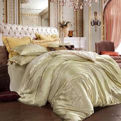皇居家纺 天鹅绒提花四件套 1.5m-1.8m床 富贵情怀-浅金