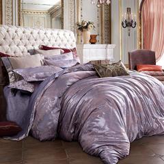 皇居家纺 天鹅绒提花四件套 1.5m-1.8m床 眉飞色舞-紫豆沙