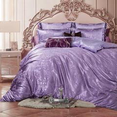 皇居家纺 天鹅绒提花四件套 1.5m-1.8m床 希尔司珂-魅紫