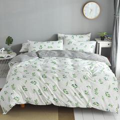 皇居家纺2019 新款全棉小清新四件套 0.9m床(三件套) 抹绿