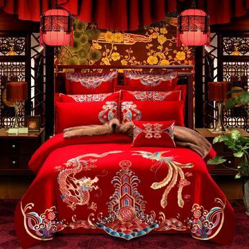 2018新款-大红婚庆系列7.8多件套 标准床单款(1.5m-1.8m床) 龙凤传情