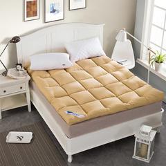 床垫10cm立体羽丝绒床垫(活动款) 90*200 米黄