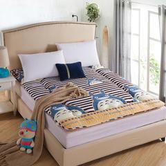 床垫磨毛印花床垫(绗缝款) 90*200 龙猫