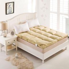 床垫羽丝绒床垫 90*200 黄色