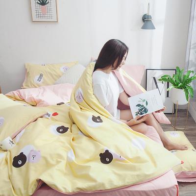 2019新款13070全棉斜紋多規格印花四件套 1.2m床單款三件套 魔法小熊
