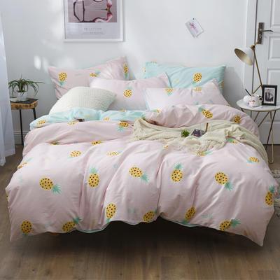 2019新款12868全棉斜紋四件套 1.2m(4英尺)床 菠蘿蜜