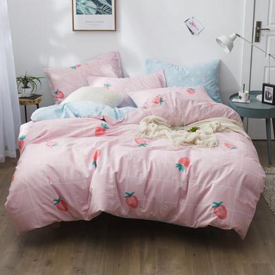 2019新款12868全棉斜紋四件套 1.2m(4英尺)床 優雅甜心-粉