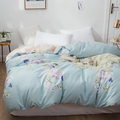 2019新款12868全棉斜纹春夏系列单被套 150x200cm 奥莉娅-紫