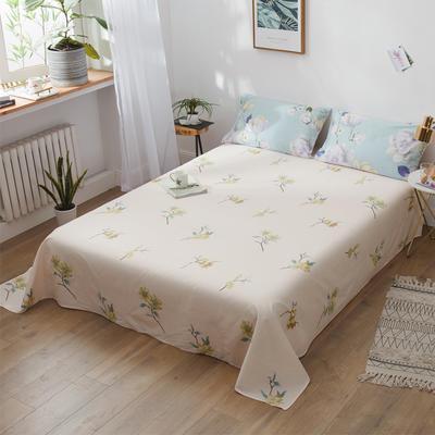 2019 新款12868春夏系列全棉斜纹单床单 180cmx230cm直角 奥莉娅紫