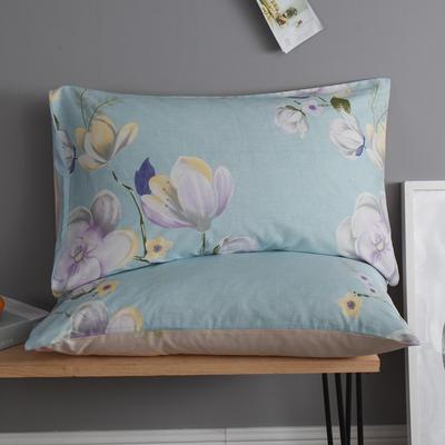 2019新款12868春夏系列全棉单枕套一对48*74cm 48cmX74cm 奥莉娅紫