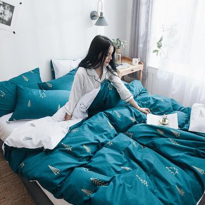 2019新款13070全棉斜紋多規格印花四件套 1.2m床單款三件套 挪威森林