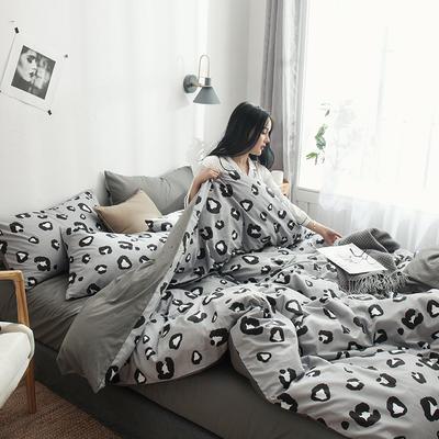 2019新款13070全棉斜紋多規格印花四件套 1.2m床單款三件套 野魅