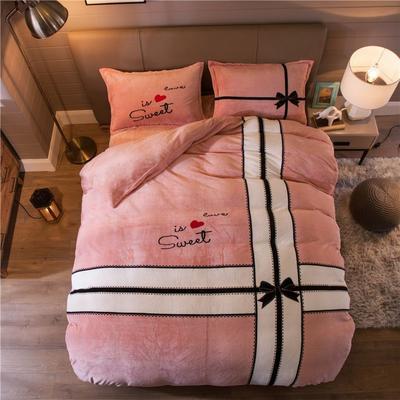大版法莱绒四件套 1.2m床单款三件套 礼物