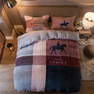 大版法莱绒四件套 1.2m床单款三件套 骑士