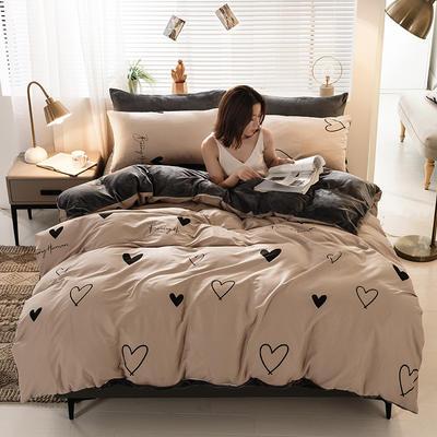 2020新款棉加绒四件套 1.8m床单款四件套 爱生活