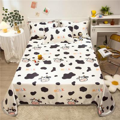 2021新款可水洗冰丝床单款凉席三件套 1.8m三件套 萌牛